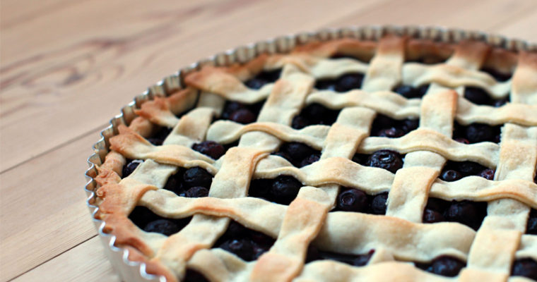 Klassisk blåbærtærte
