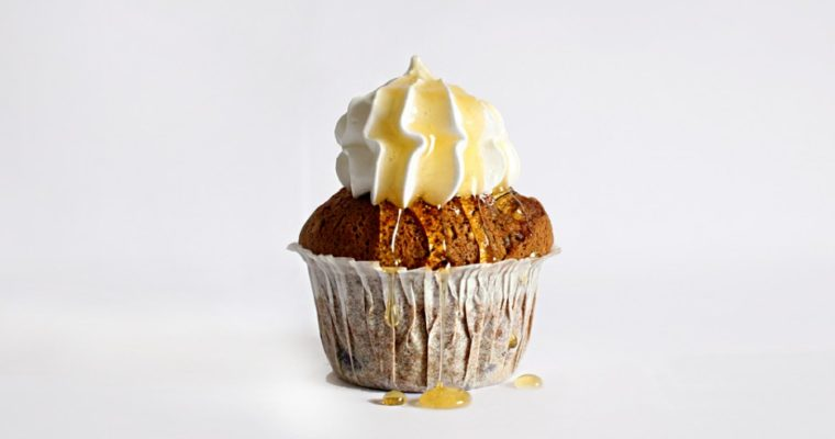 Morgen muffins med yoghurttop