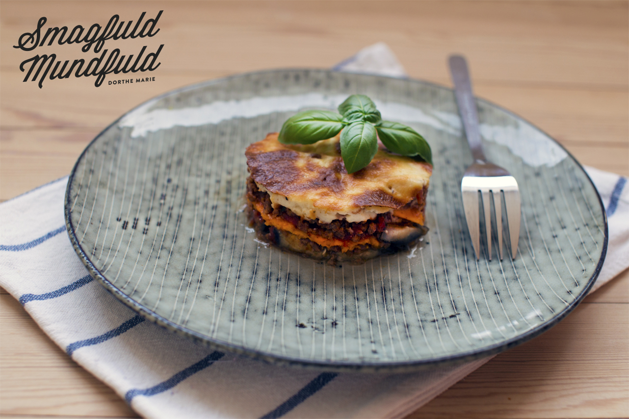 Græsk moussaka med sødkartofler