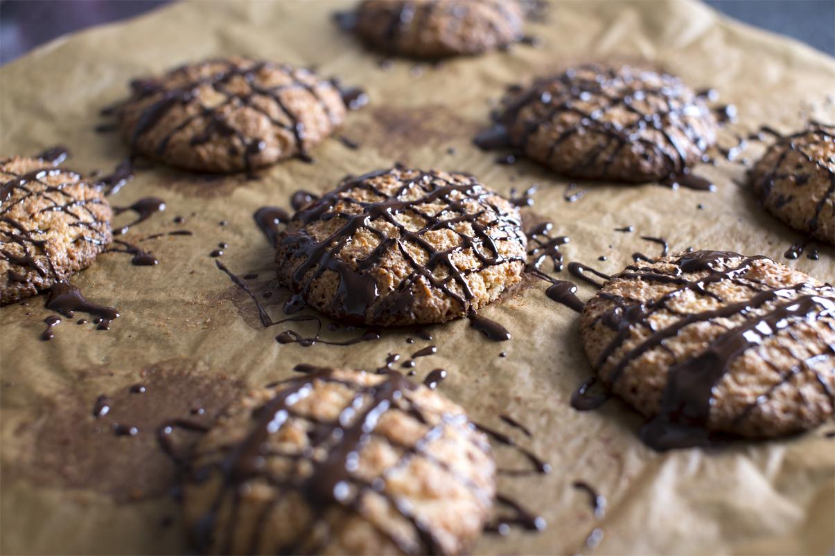 cookies med kokos og marcipan