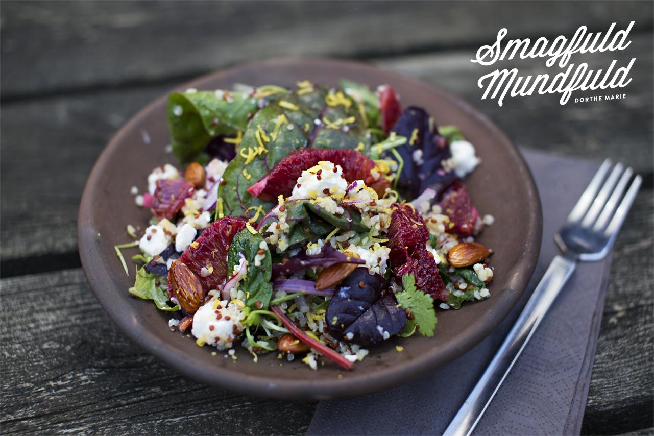 Quinoa salat med blodappelsin