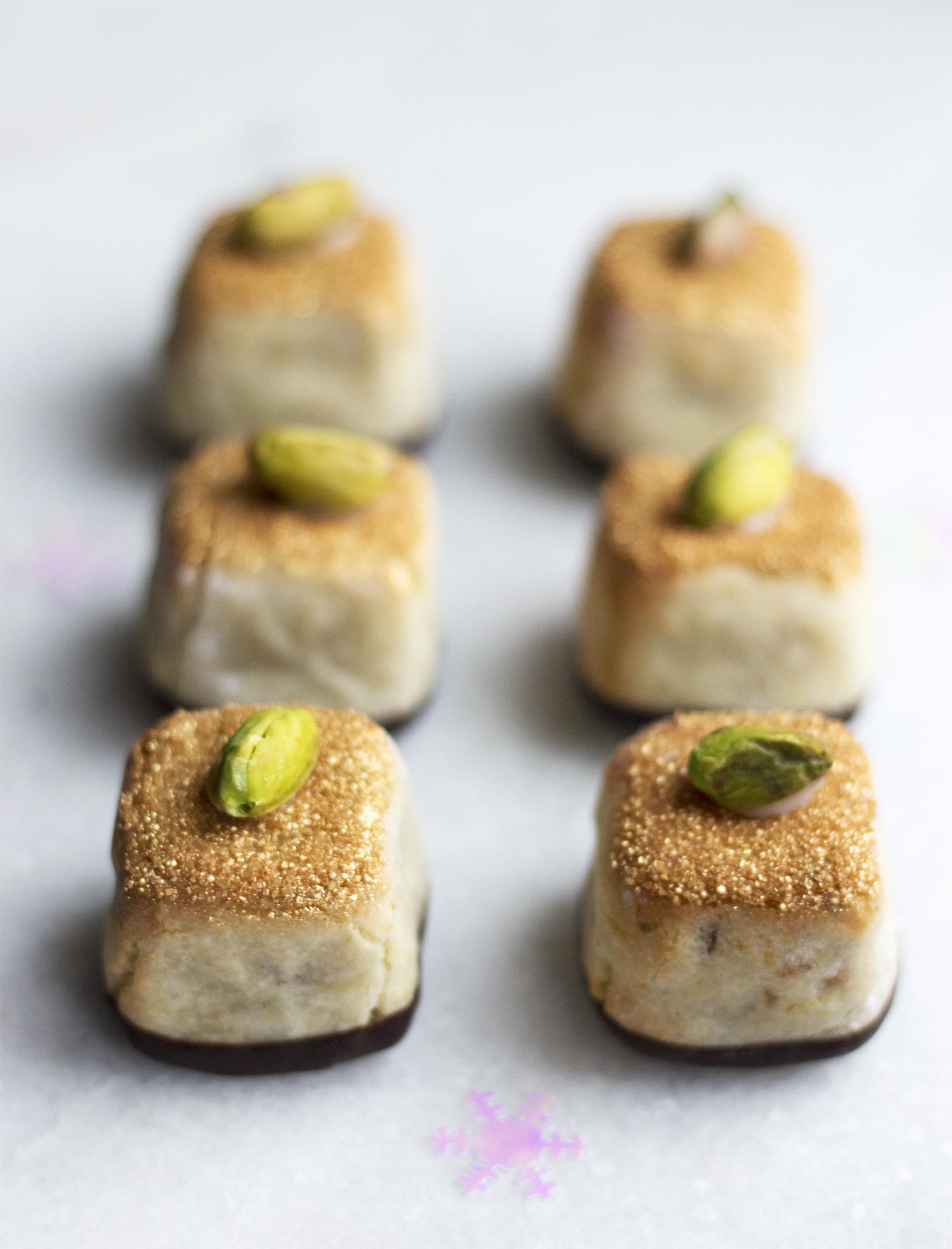 Kransekage med pistacienødder