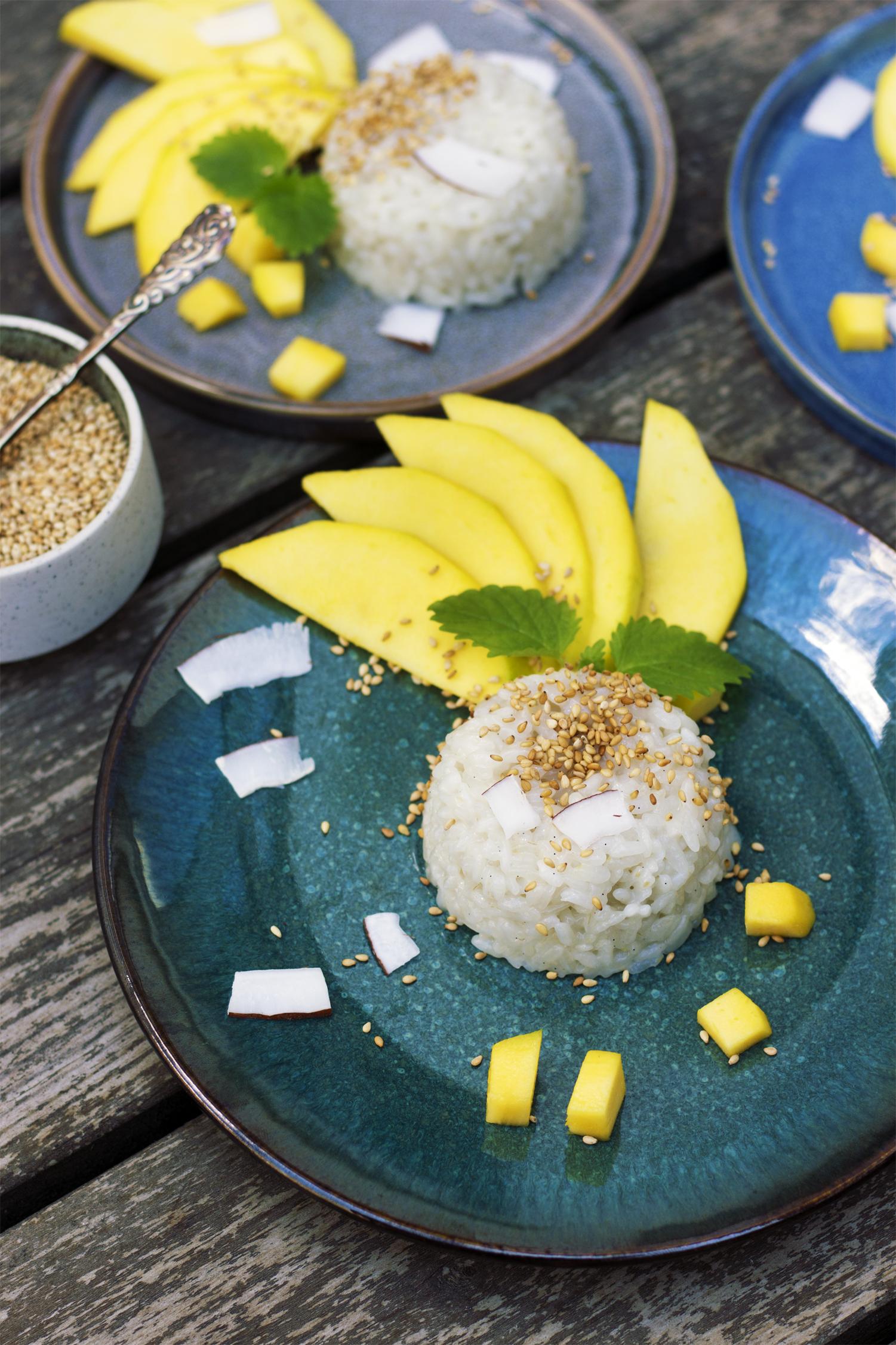Mango sticky rice med kokos