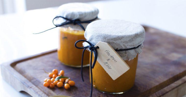 Havtorn marmelade med æble og vanilje