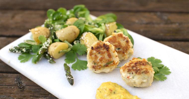 Frisk fisk! Små thaideller med sommergrønt